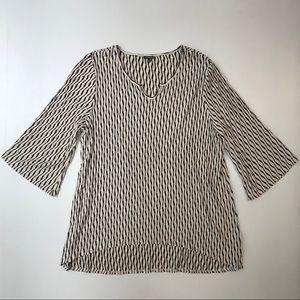77b3fced241f1 Hannah Tops - Hannah (plus size) High-Low 3 4 Sleeve Shift